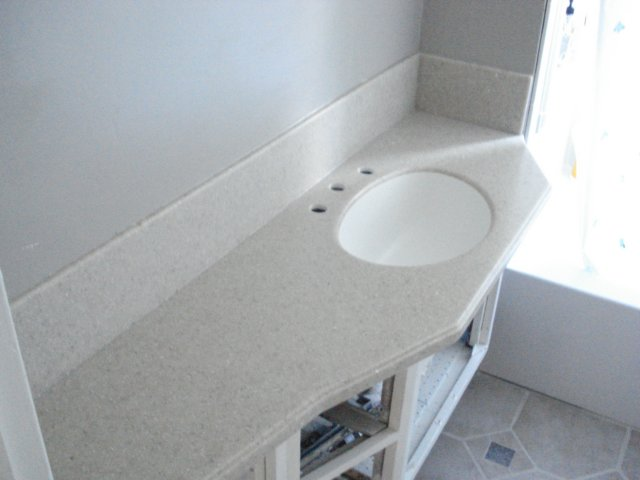 Custom solid surface vanity counter top - Custom solid surface bathroom vanity tops ...