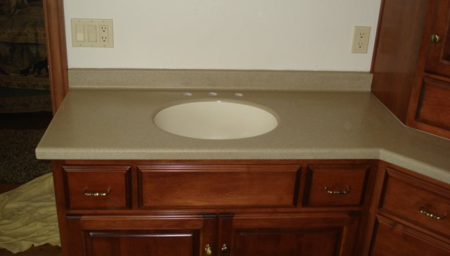 Solid Surface Vanity Counter Top By Quarrystone Dsc00966