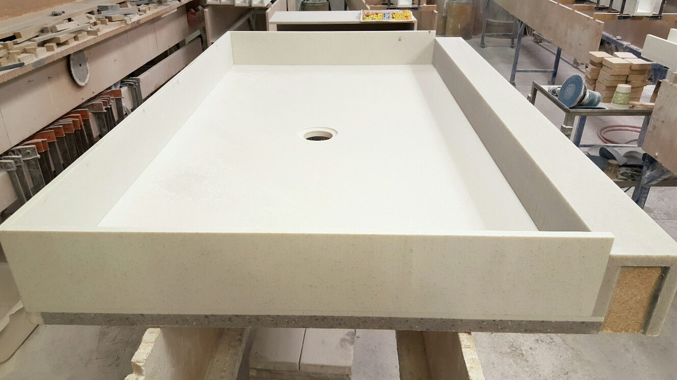 Custom Shower Curb Pan